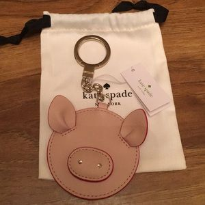 Kate Spade New York Year of Pig key chain bagcharm